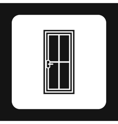 Iron door icon simple style vector