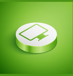 Isometric computer monitor screen icon isolated on vector
