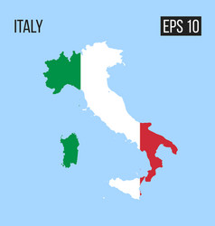 italy map border with flag eps10 vector image