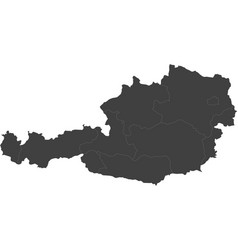 Map of austria split into regions vector