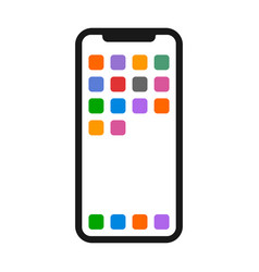 Mobile phone or smartphone with apps icon vector