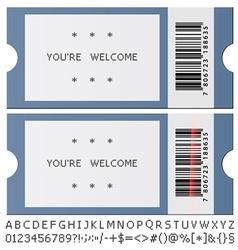 Modern tickets vector