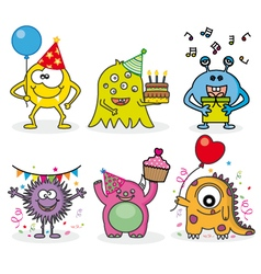 Monsters party vector