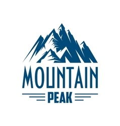 Mountain peak isolated icon or emblem vector image