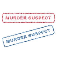 Murder suspect textile stamps vector
