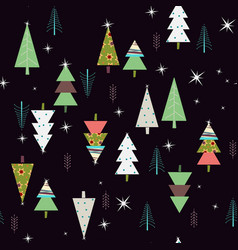 nice seamless spruce pattern vector image