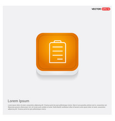 notepad icon flat design orange abstract web vector image