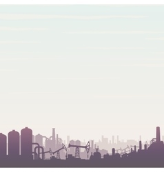 Oil and Gas Industry Panoramic Landscape vector