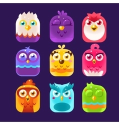 Owl Icons Set vector image