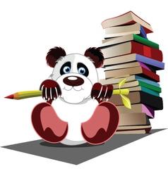 panda school vector image vector image