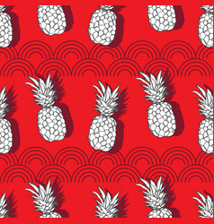Pineapple groove-fruit delight seamless repeat vector