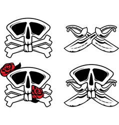 Pirate symbol with skull vector image