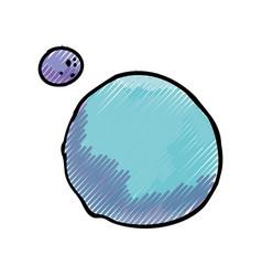 Planet moon orbit vector