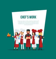 Professional restaurant kitchen personal concept vector
