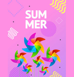 realistic detailed 3d summer concept ad poster vector image
