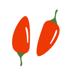 red chilli pepper isolated on white vector image