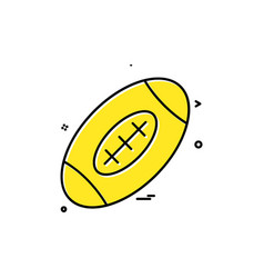 rugby icon design vector image