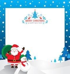 Santa Snowman Border vector image