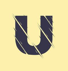 scribbled letter u vector image