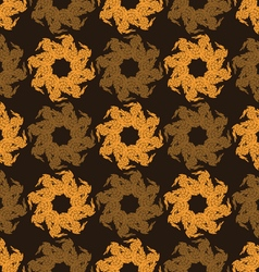 Seamless pattern abstract flowers vector