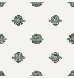 Seamless pattern designation from 1 to 100 vector