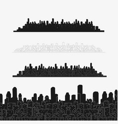 set city panorama elements vector image