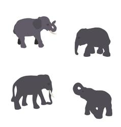 set elephant isolated on white background eps10 vector image