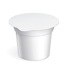 Slim White blank plastic container vector