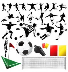 Soccer vector and equipments vector