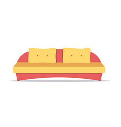 sofa colored vector image