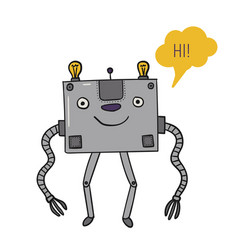 The robot is square bot tell artificial vector
