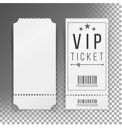 ticket template set blank theater cinema vector image