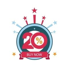 Twenty discount icon Sales design template vector