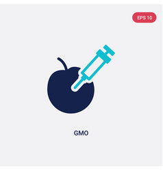 Two color gmo icon from general-1 concept vector
