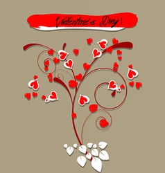 Valentine greeting hearts card vector