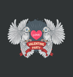 valentine love bird artwork vector image
