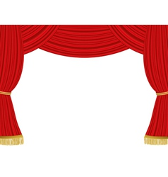 Theater curtains background vector image vector image