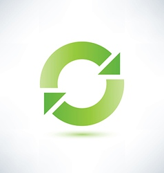 abstract circle symbol recycle icon vector image vector image