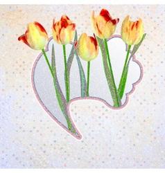 Abstract Elegance Vintage polka dot card EPS 10 vector image vector image