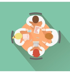 Business teamwork concept top view group people vector