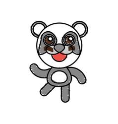 Drawing panda animal character vector