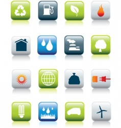 eco icons revived square vector image vector image