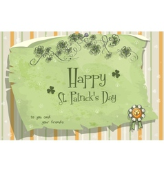 Postcard to the day of StPatrick vector image vector image