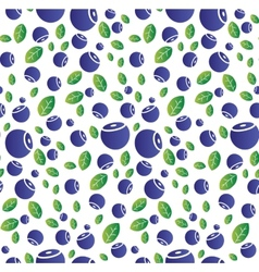 Seamless background with blueberries vector image