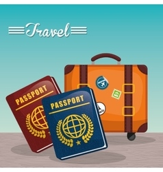 Summer vacations and trave vector image vector image