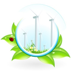 Wind power plant icon vector