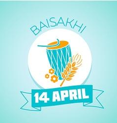 14 April Day Baisakhi vector image vector image