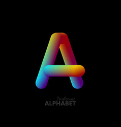 3d iridescent gradient letter a vector image vector image