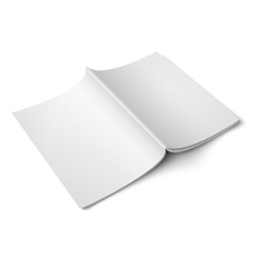 Blank opened magazine back cover template vector image vector image