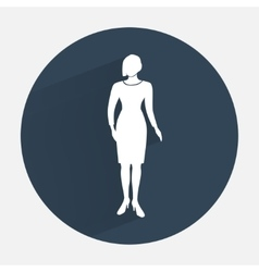 Businesswoman icon Office worker symbol Standing vector image vector image